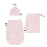 Snoozebaby Newborn Set Schlupfsack+ Mütze, 0-3 Monate, Pink Blizzard
