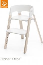 STOKKE Steps Sitz Weiss, Beine Whitewash