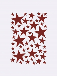 Ferm Living Wandsticker, Mini Stars, Rot
