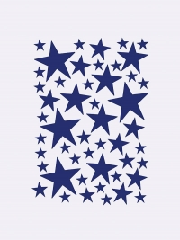 Ferm Living Wandsticker, Mini Stars, Blau