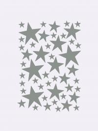 Ferm Living Wandsticker, Mini Stars, Silber