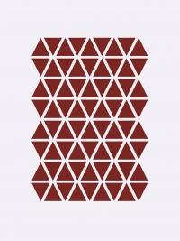 Ferm Living Wandsticker, Mini Dreiecke, Rot
