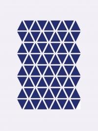 Ferm Living Wandsticker, Mini Dreiecke, Blau