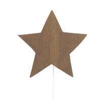 Ferm Living Wandlampe Sterne, geräucherte Eiche