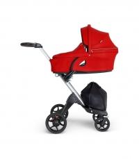 STOKKE Xplory V6 Gestell Silber/Schwarz inkl Babywanne, Red 2019