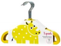 3 Sprouts Kleiderbügel 10er Set, Gelb Nashorn