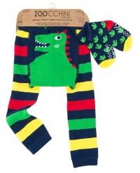 Zoocchini Baby Leggins & Socken Set, Devin der Dinosaurier