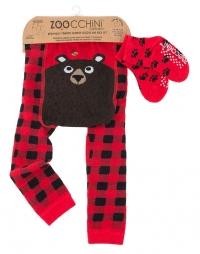 Zoocchini Baby Leggins & Socken Set, Bosley der Bär