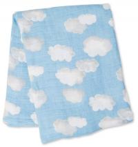 Lulujo Bambus Muslin Swaddle Mulltuch - Clouds