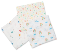Lulujo Muslin Mulltuch 3er Pack - High in the Sky