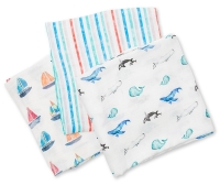 Lulujo Muslin Mulltuch 3er Pack - Out to sea