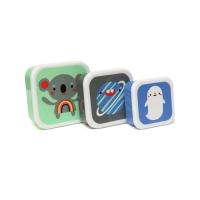 Petit Monkey Set 3 Snack-Dosen, Koala & Friends