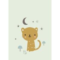 Petit Monkey Poster, Leopard Mini