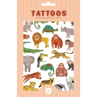 Petit Monkey Kinder-Tattoos, Dschungeltiere