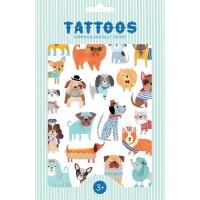 Petit Monkey Kinder-Tattoos, Hunde