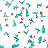 My Little Day Konfetti aus Seidenpapier, Dinosaurier