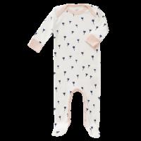 Fresk Babypyjama Bio-Baumwolle, mit Füsschen, Tulip