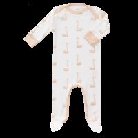 Fresk Babypyjama Bio-Baumwolle, mit Füsschen, Schwan