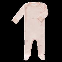 Fresk Babypyjama Bio-Baumwolle, mit Füsschen, Rainbow rosa