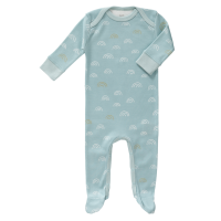 Fresk Babypyjama Bio-Baumwolle, mit Füsschen, Rainbow Ether Blue