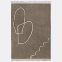 Ferm Living Desert Tufted Teppich - Sand - 140x200 cm