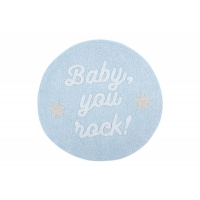 Lorena Canals Kinderteppich Mr. Wonderful - Baby, you rock! 120 x 120 cm