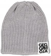 Geggamoja gestrickte Mütze Beanie, grau