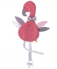 Kikadu Schnullertuch Flamingo