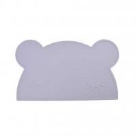 Silikon-Tischmatte Bär, grau
