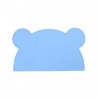 Silikon-Tischmatte Bär, hellblau