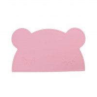 Silikon-Tischmatte Bär, rosa