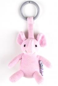 NatureZoo of Denmark Kinderwagen-Spielzeug, Elefant, rosa