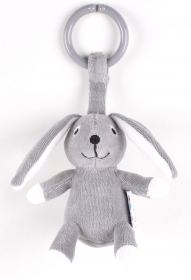 NatureZoo of Denmark Kinderwagen-Spielzeug, Hase, grau