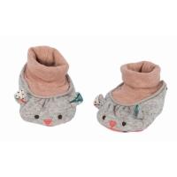 Moulin Roty Babyschühchen 0-6 Monate, Maus grau