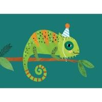 Geburtstagskarte Chamäleon