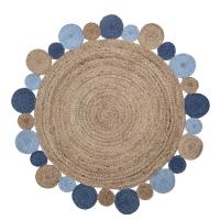 Bloomingvile Teppich aus Jute, blau