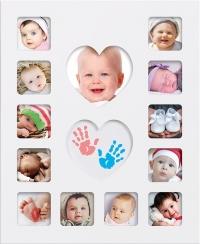 Happy Hands Babys First Year Bilderrahmen