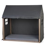 Childhome Hausbett Rahmen Bezug, 70x140cm - grau