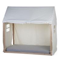 Childhome Hausbett Rahmen Bezug, 70x140cm - weiss