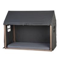 Childhome Hausbett Rahmen Bezug, 90x200cm - grau