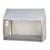 Childhome Hausbett Rahmen Bezug, 90x200cm - weiss