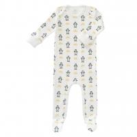 Fresk Babypyjama Bio-Baumwolle, mit Füsschen, Pinguin