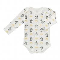 Fresk Babybody Bio-Baumwolle, langarm, Pinguin