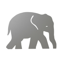 Ferm Living Wandlampe Elefant, Warmgrau