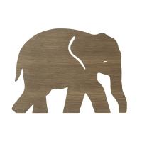 Ferm Living Wandlampe Elefant, geräucherte Eiche