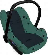 Dooky Babyschalenbezug - Green Stars