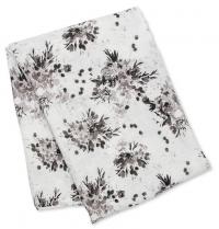 Lulujo Muslin Swaddle Mulltuch - Black Floral