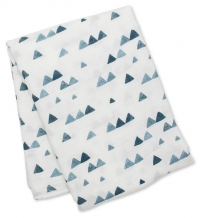 Lulujo Muslin Bambus Swaddle Mulltuch - Navy Triangles
