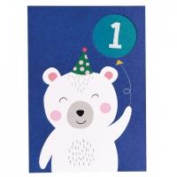 Rex London Geburtstagskarte, Polar Bear 1. Geburtstag