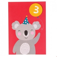 Rex London Geburtstagskarte, Koala 3. Geburtstag